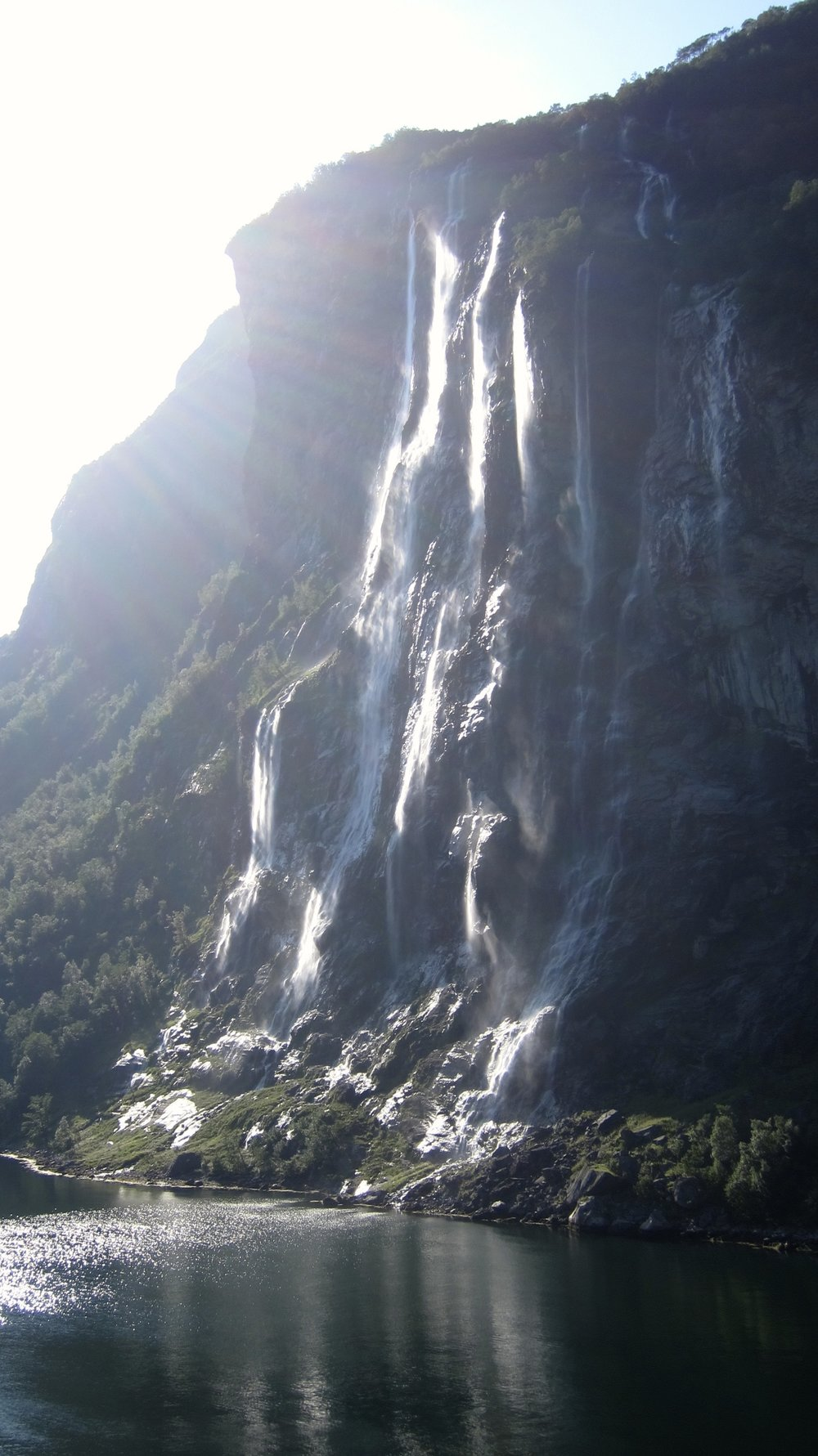 The Seven Sisters waterfall (seven rivers come together to make the fall).