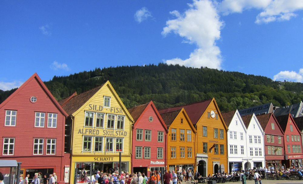 The old wharf in Bergen.