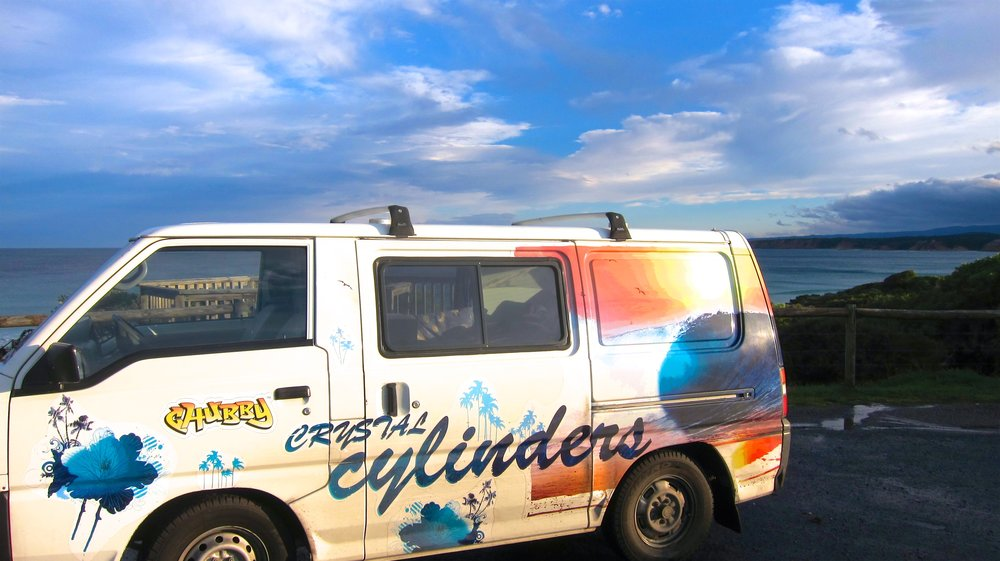 Our Australia campervan along the Great Ocean Road.