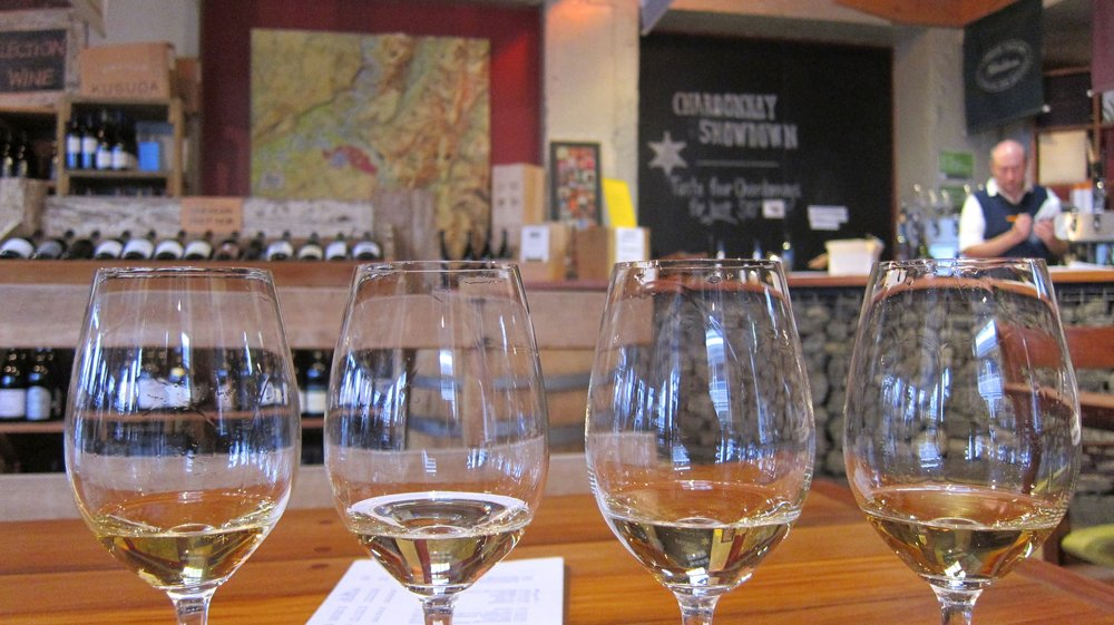 Chardonnay Showdown tasting at the Martinborough Wine Centre.