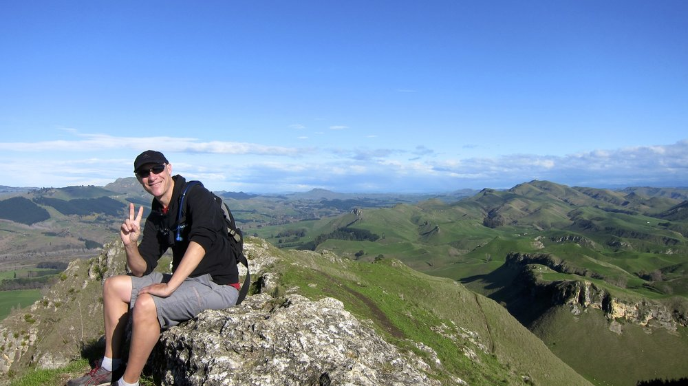 High above Hawke's Bay on the top of Te Mata Peak.