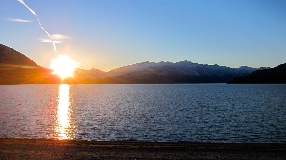 Sunset over Lake Wanaka.