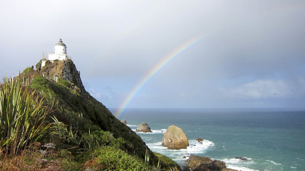 A rainbow on our route to the Catlins.