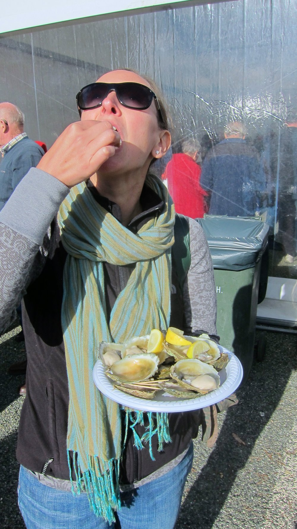 Also, lots of oyster eating.