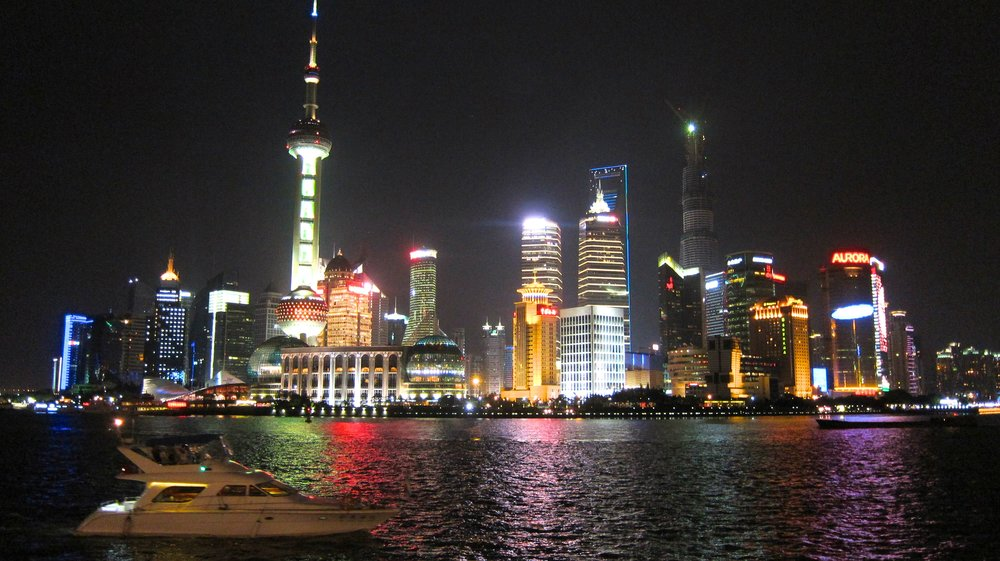 Pudong from the Bund at night.