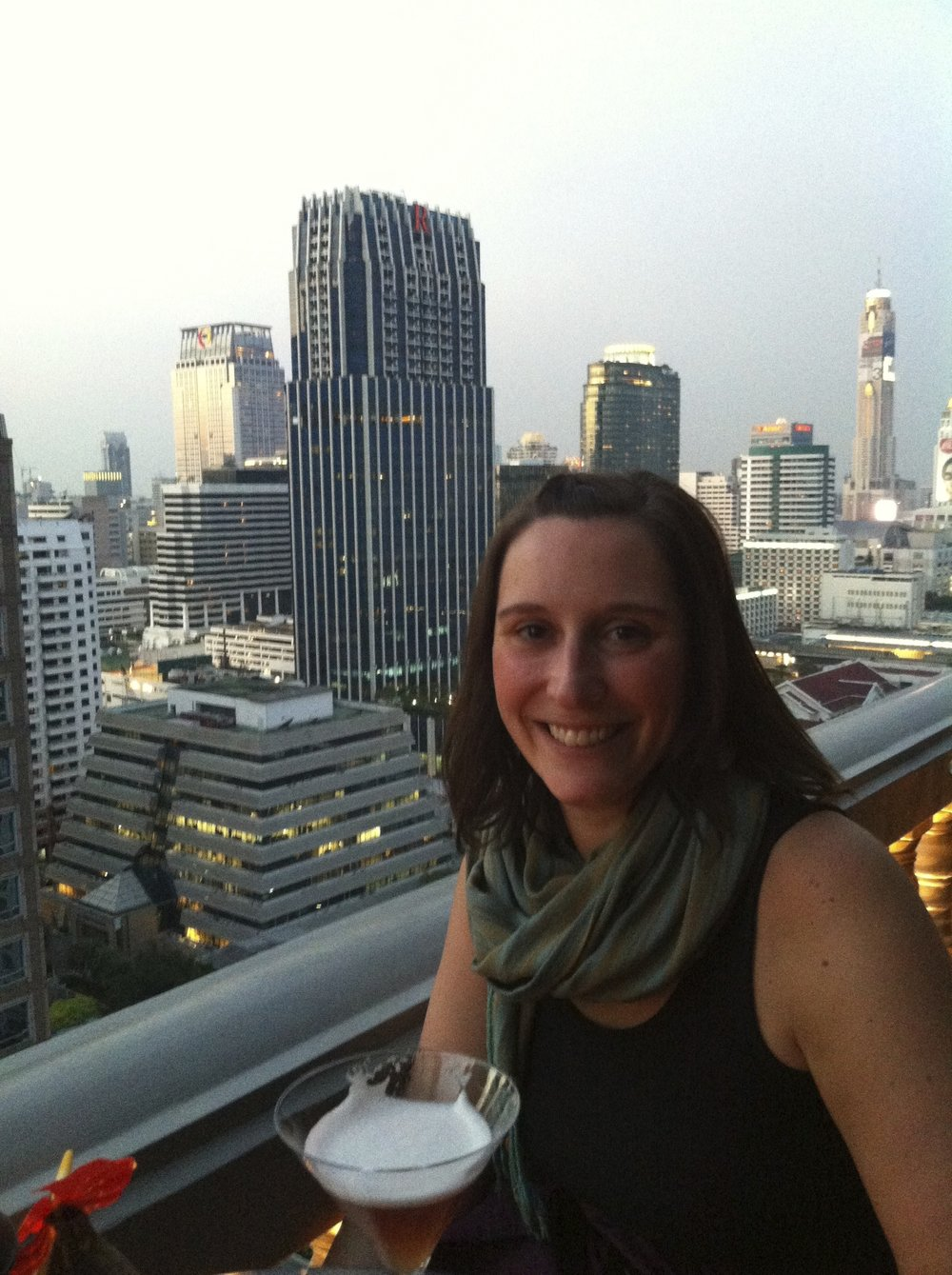 French martini bliss high up in Bangkok.