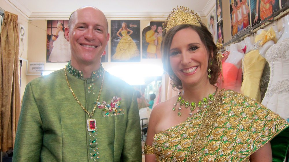 All dressed up for our Khmer photo shoot.