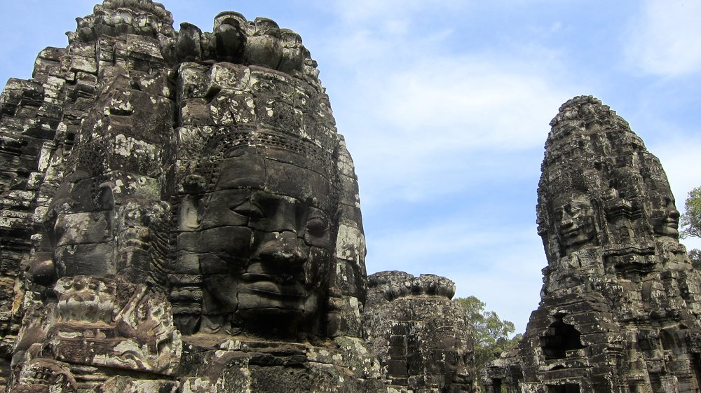 The faces of Bayon.