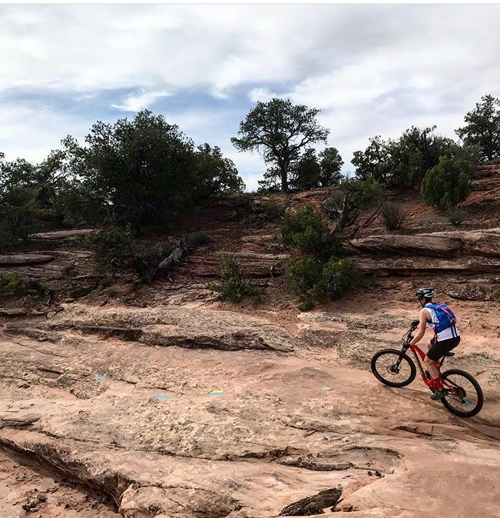 Mountain biking in Moab, Utah