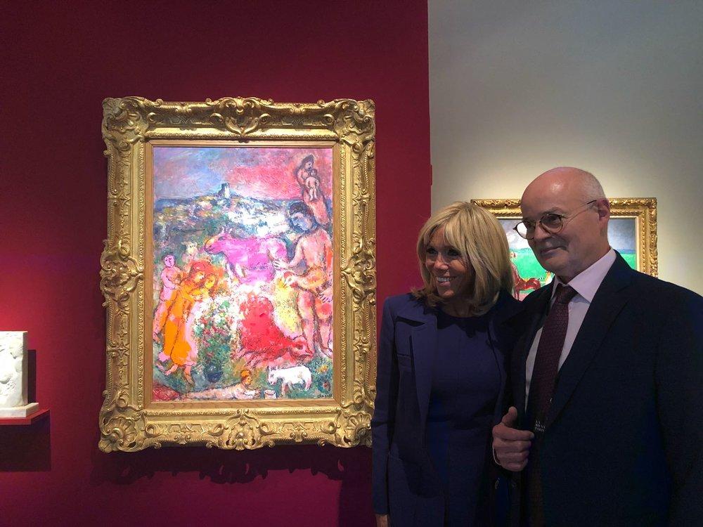 Visite de Madame Macron @ Du Lac Fine Art - Raphaël Roux dit Buisson