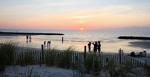 Cape Charles Beach at Sunset