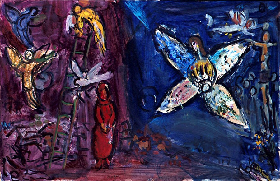 Marc Chagall, Jacob's Dream, 1966, Nice, Musée National Message Biblique Marc Chagall -  INSPIRATION PAINTING