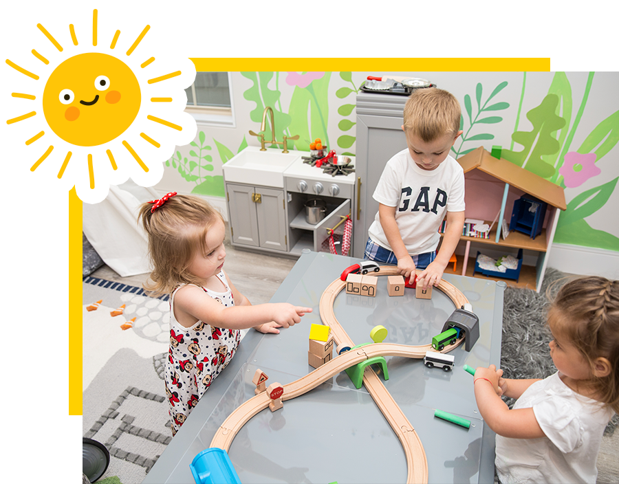 Schedule - Our schedule is designed to include activities in relation to both your child's interests and routines such as classes involving music, dance, movement, arts and crafts, language, and building that are incorporated into a daily plan.
