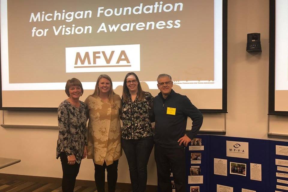 Dr. Julie Marvin-Manders, Lindsey Lewis, Dr. Cynthia Geneva and Dr. Mitch Dobrezelewski.