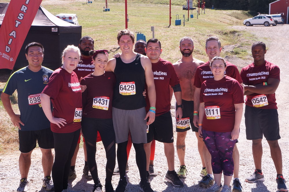 Blast It Clean shouting out for #teamsolutions at Rugged Maniac 2018