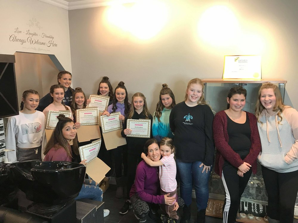 Beautiful You workshop with CB from Creatively Beautiful. Teaching young ladies about proper makeup and skin care for their age.