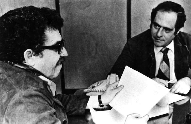 Manuel Mejido  con Gabriel García Márquez