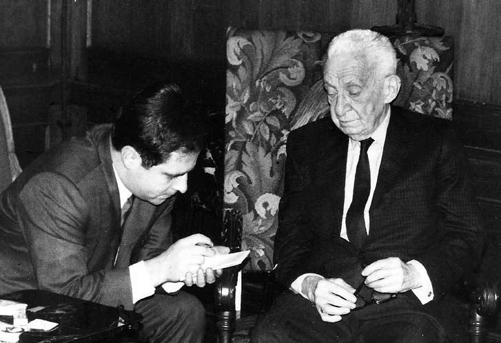 Manuel Mejido  y Alexander Kerensky, primer ministro de Rusia.