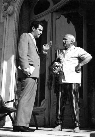 Manuel Mejido  y Pablo Picasso.