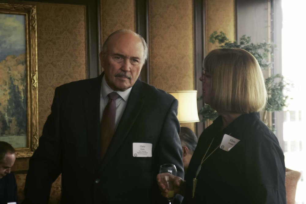 Foundation Governor Gary Pickle with Eileen Lumpkin