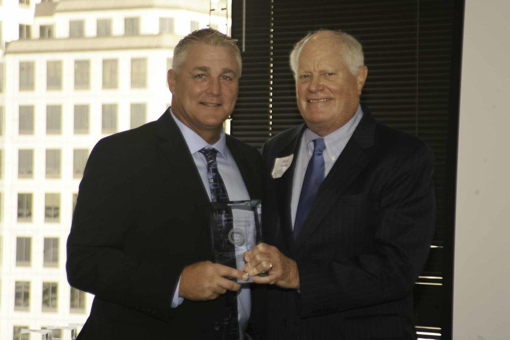 Foundation Chair Mark Morrison with Chris Fox of KRLD-AM