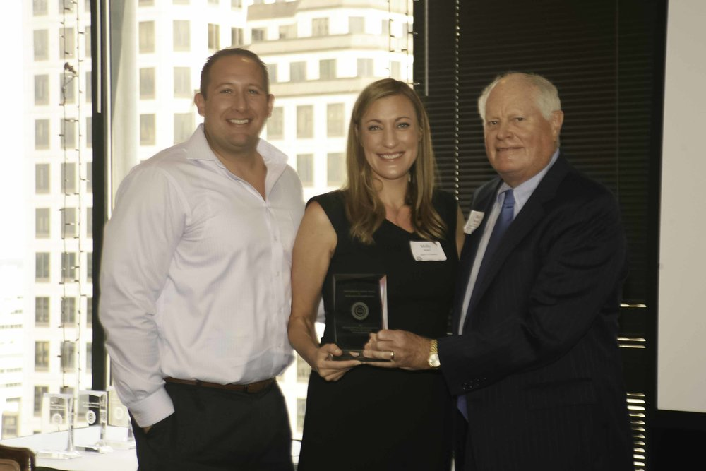 Foundation Chair Mark Morrison with KHOU-TV's Molly Baker and Justin Cuculich