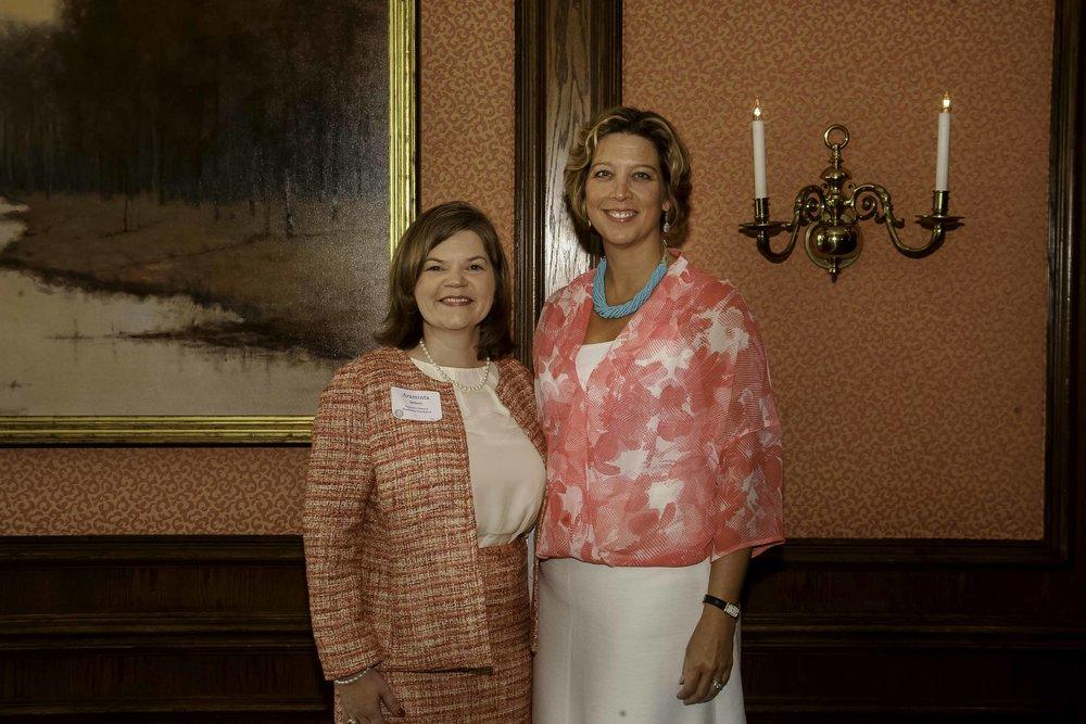 Foundation Executive Director Araminta Sellers with former Foundation Executive Director Bergan Casey
