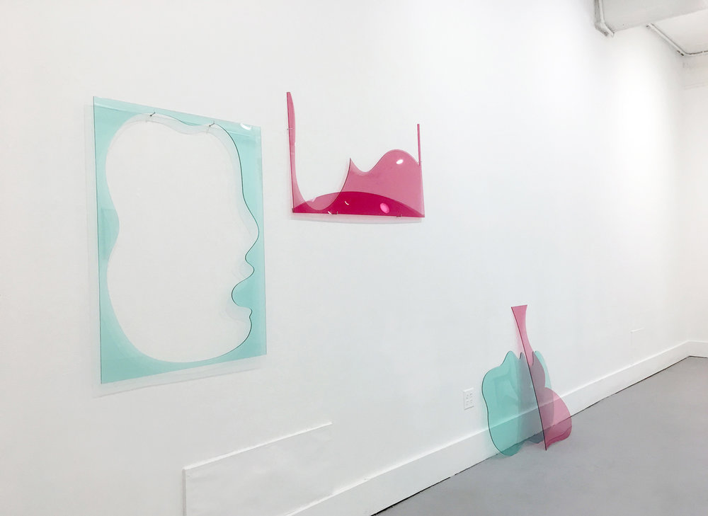 Emergence, 2018  Plexiglass Dimensions vary with installation  Installation view at Pratt Institute Steuben Gallery (Brooklyn, NY)
