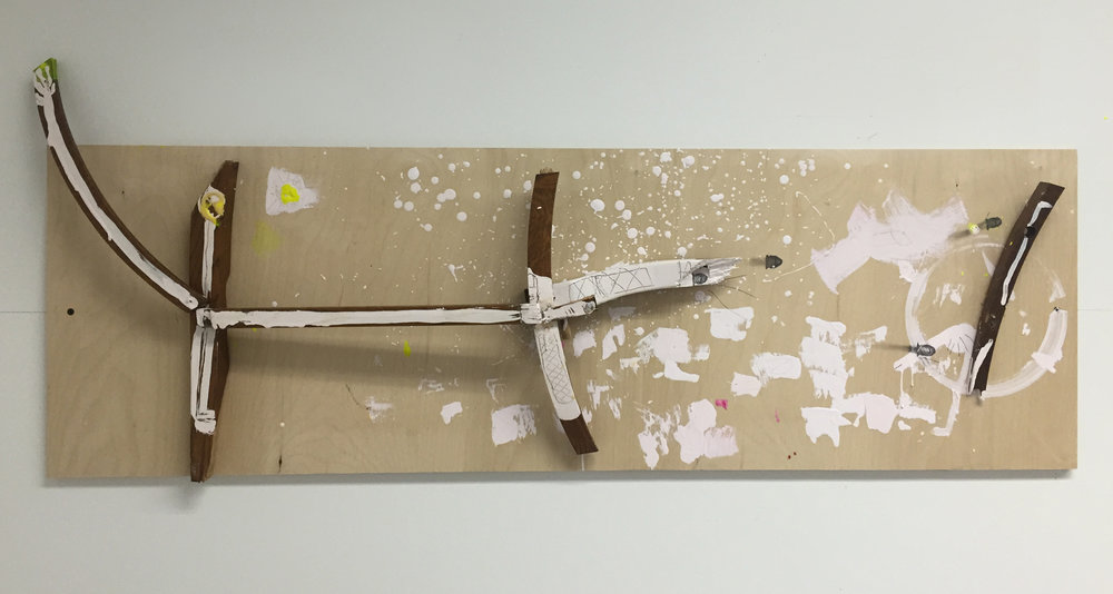 8.Gun, mixed media on plywood, 46 x 16 in.jpg