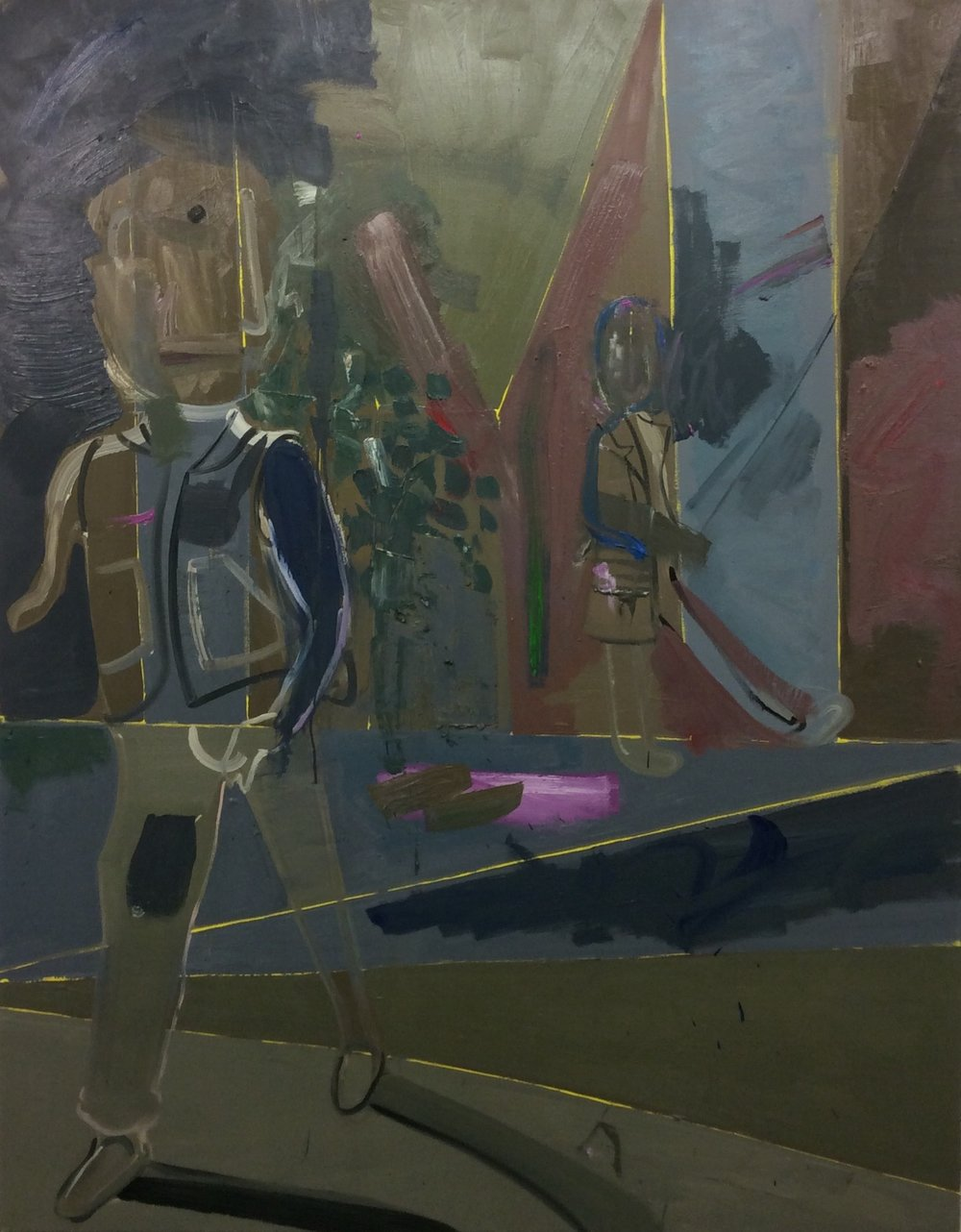 6.The Two, 2015, oil on canvas, 65 x 83 in.jpg