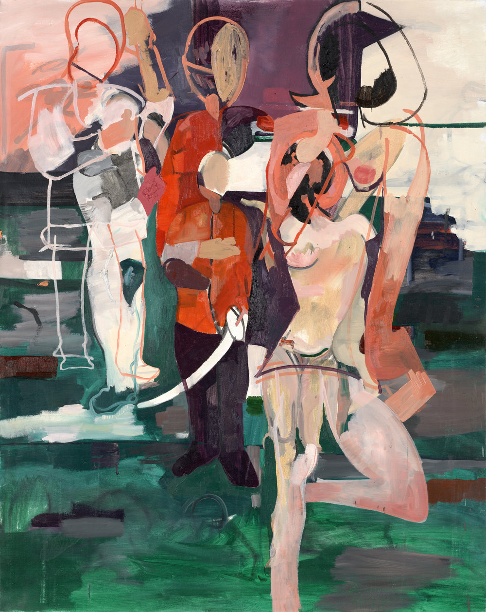 3.The Three, 2011, oil on canvas, 46 x 58 in.jpg