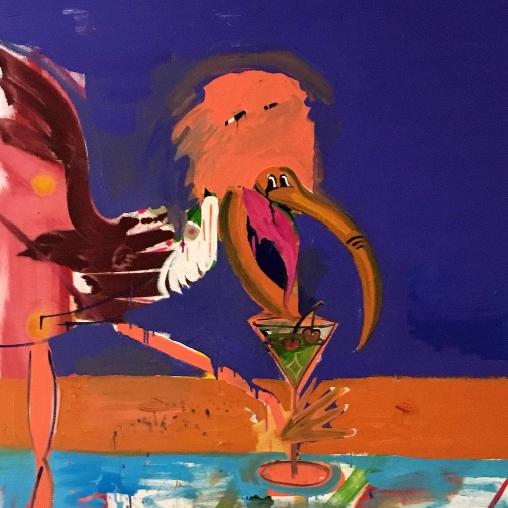 Bird with Cocktail 2 -