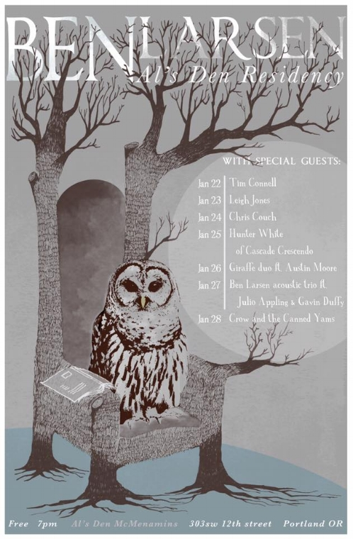 Ben Larsen Residency Poster