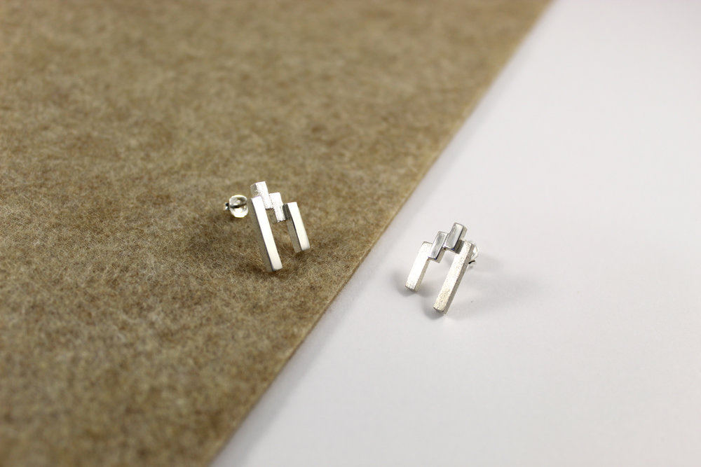 SEVEN Silver Stud Earrings