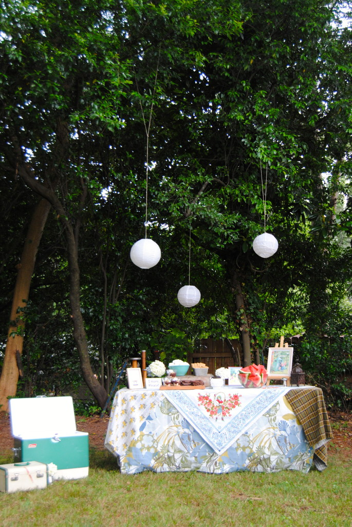 Outdoor Camping Party Decor