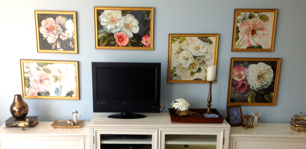 TV Gallery Wall Floral
