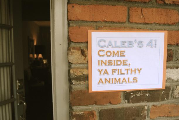 Come inside ya filthy animals