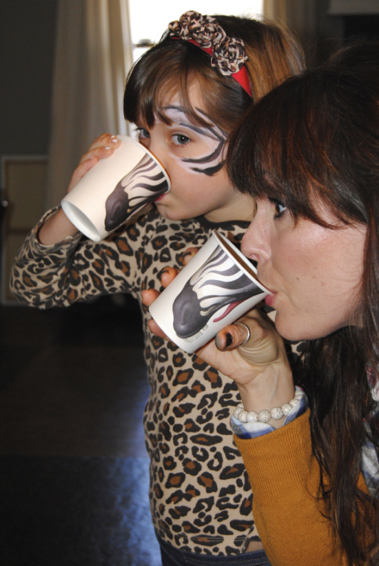 Zebra Pick your Nose animal cups