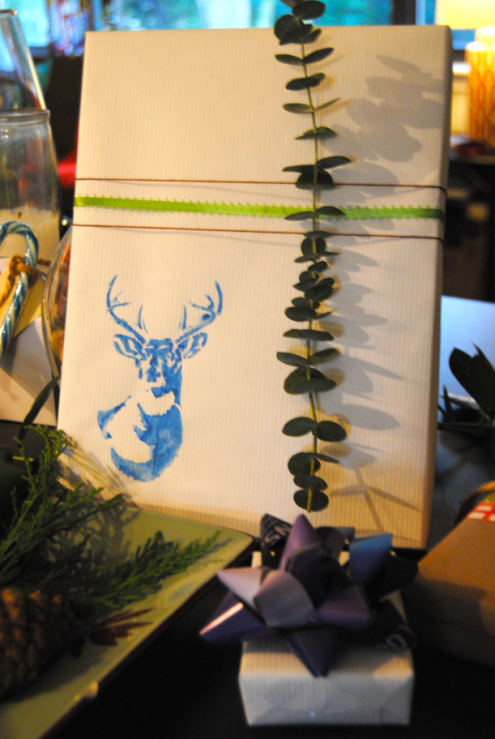 Christmas Wrapping Stencils and Eucalyptus