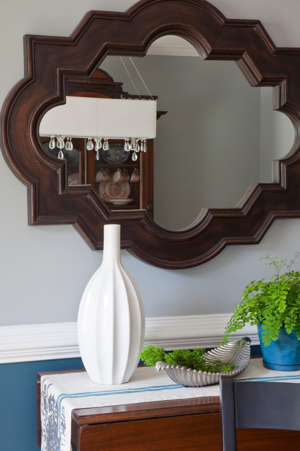 Dining Room Vignette with Mirror
