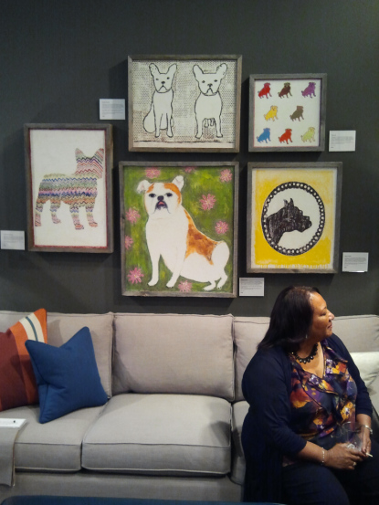 Mitchell Gold + Bob Williams Atlanta showroom. I absolutely love EVERYTHING in that store but these dog images absolutely make me swoooon. And (bonus) on the sofa is sitting the mother of Dayka Robinson and, after speaking with her, discovered she worked at my junior high in Fresno, California. I can tell you that in Atlanta, Georgia, this type of connection NEVER happens. Lovely lady, lovely photo gallery!