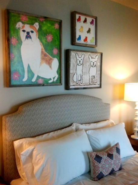 I adore this smooshy nosed dog collection by Georgia designer Sugarboo Designs for Mitchell Gold + Bob Williams. Love love love.