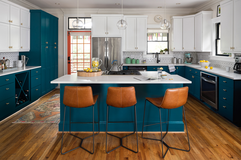 Bold Virginia Highland Kitchen