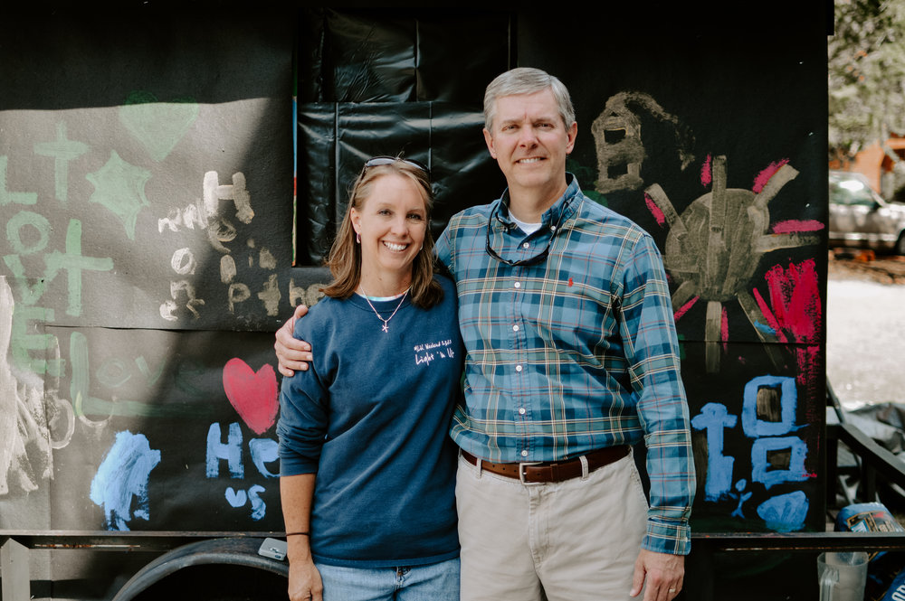 Rusty Hutson and Lisa Pierce (Executive Director and Founder)