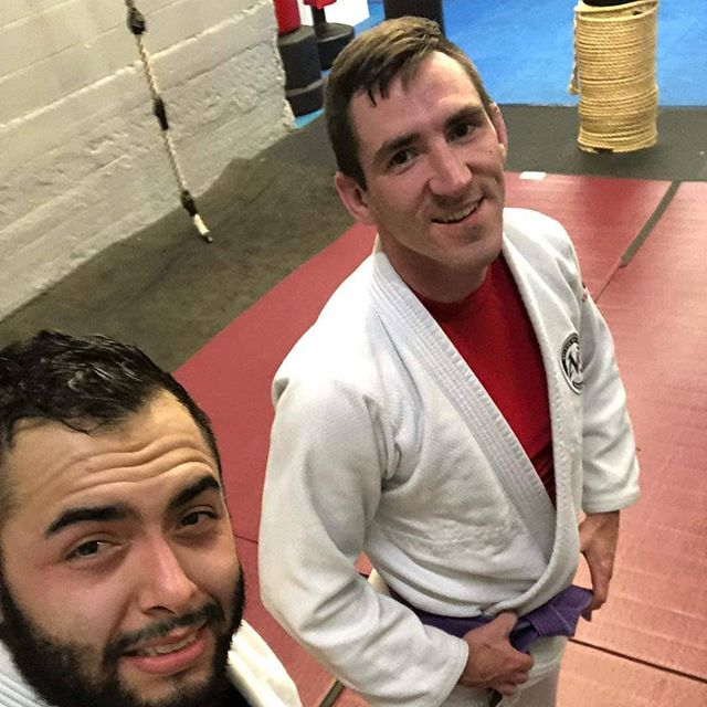 Got some training time in with my brother and original training partner @rdgarcia_rmnu. We've climbed the ranks together and still choke each other to this day. That's what the tribe is all about! #budotribe #bjj #grappling #theoriginaltribe