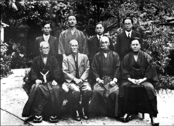 "Okinawan masters meet in Naha in 1936 to discuss the meaning of ""karate""."