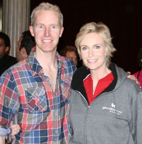 Owner John Dixon with actor Jane Lynch