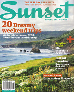 Sunset magazine cover