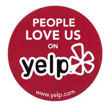 People love us on Yelp: www.yelp.com
