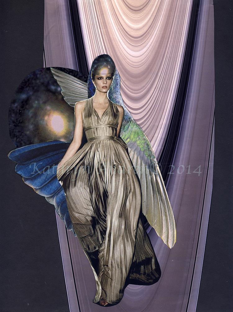 Saturn Sentinel ©2013   Time telling meeting Venus alluring Saturn Magnificent pair  Heavenly Haiku by Kathryn Andren 9.11.2013